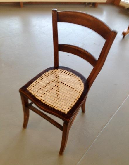 Stuhl mit Wiener Geflecht